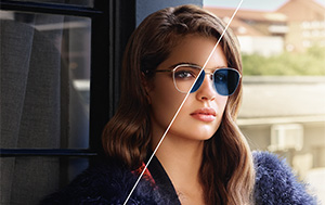 Woman wearing Transitions® lenses
